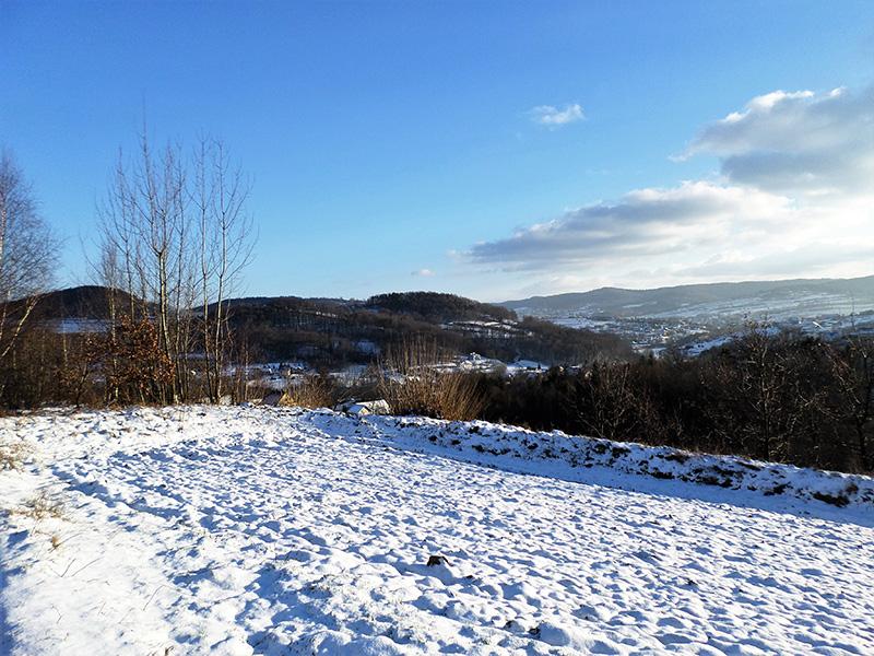 zimowy widok na Rajbrot